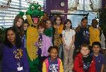 Mrs. Taylors 4th Grade Class and Mardi Gator