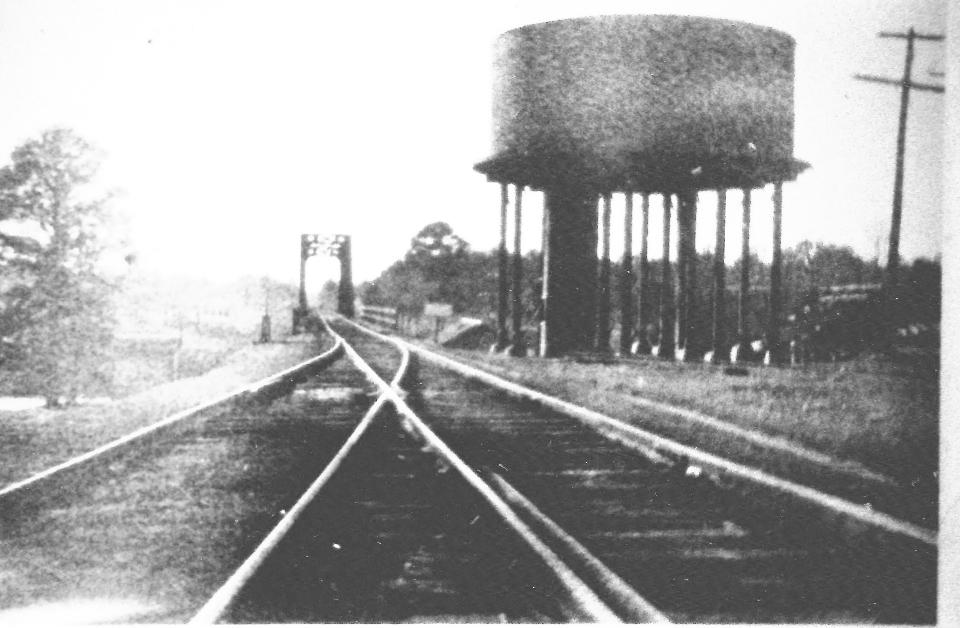Railroad Water tower with railsidetrack