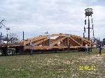 Roof trusses arrive at the River Front Park, Logansport,  Louisiana